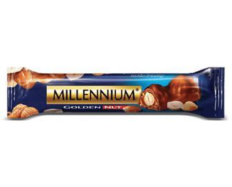 Шоколад молочний Millennium Golden Nut з цільним горіхом, 40г