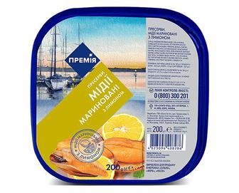 Мідії «Премія»® мариновані з лимоном, 200г