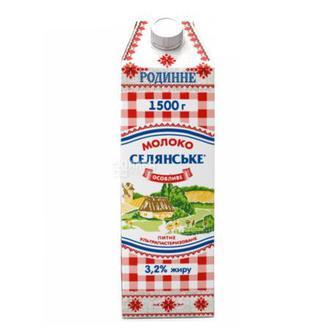Молоко Особливе 2,5% Селянське 1500 г