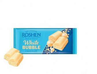 Шоколад Roshen пористий білий 85г