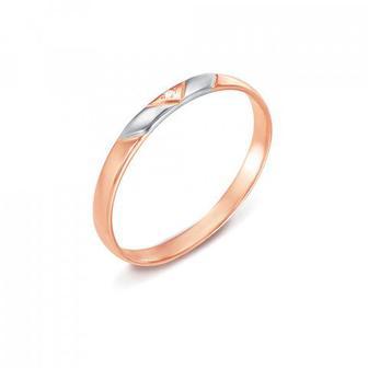 Обручальное кольцо с бриллиантом. Артикул 1010/1.25