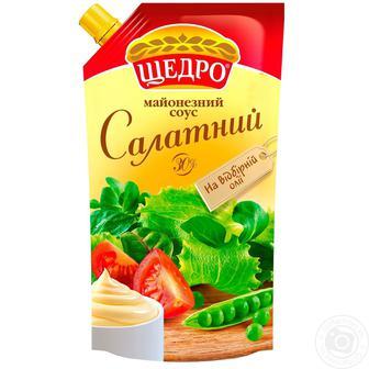 Соус майонезний Салатний 30% Щедро 350 г