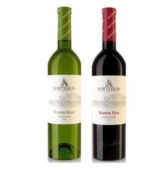 Вино Монте Блан, Монте Розе  Коктебель  роз., белое п/сл, 0,75 л