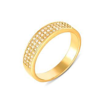 Золотое кольцо с фианитами. Артикул 12106/eu