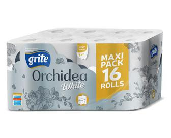 Папір туалетний Grite Orchidea White, 16 рулонів/уп