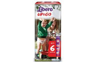 Підгузки-трусики Libero Up&Go Mega Pack 6 (13–20 кг) 38 шт./уп