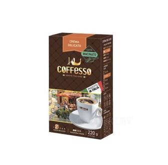 Кофе молотый Crema Delicato Coffesso 220 г