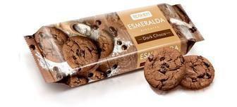 Печиво Есмеральда шоколадна з кусочками шоколадної глазурі 150г