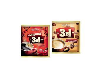 Напій кавовий 3 в 1 розчинний/ міцний розчинний Своя Лінія 20 г