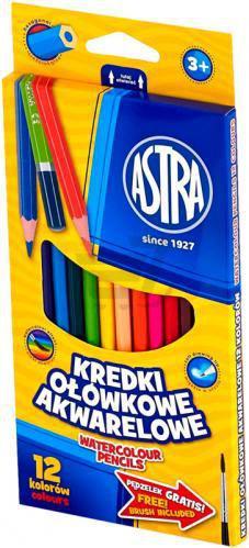 Олівці акварельні 12 кольорів Астра