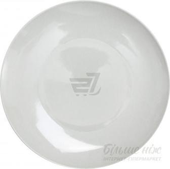 Тарілка обідня Crackle 31 см platinum grey Farn