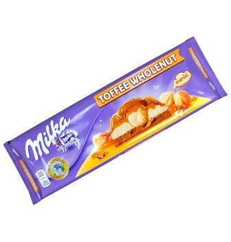 Шоколад Toffee wholenut Milka 300г