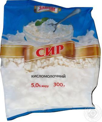 Сир кисломолочний Злагода 5% 300г
