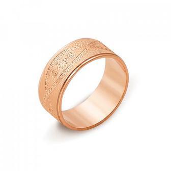 Обручальное кольцо с алмазной гранью. Артикул 10144