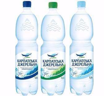 Вода мінеральна Карпатська Джерельна Карпатські мін. води 0.5л