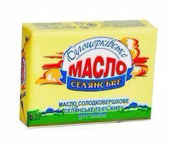 Масло Селянське 72,6% Білоцерківське 180г