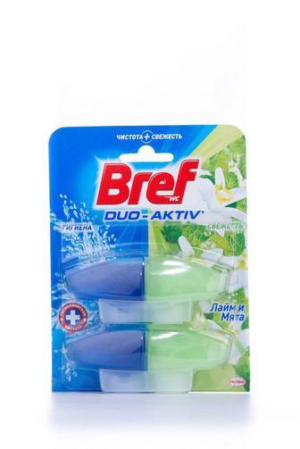 Чистящее средство для туалета Bref Дуо Актив Природный баланс Лайм и Мята запаска, 2*50г