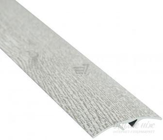 Поріжок алюмінієвий декорований Braz Line гладкий приховане кріплення 40x900 мм дуб полярний