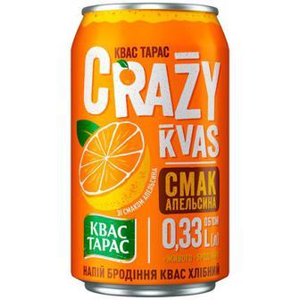 Квас Тарас Crazy Kvas смак апельсина 0,33л
