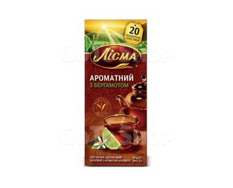 Чай черный пакетированный Лисма Ароматный с бергамотом 20 пак