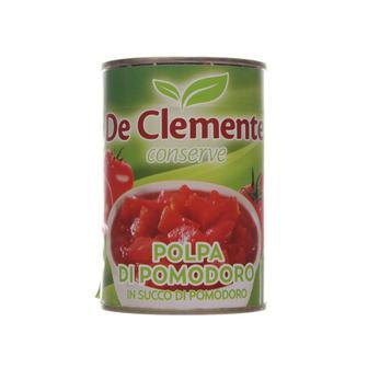 Томаты очищенные нарезанные в томатном соке De Clemente 400г