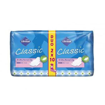 Libresse Classic Ultra Normal Duo, 3 мм, 20шт, Pantyliners Classic, 50 шт