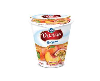 Йогурт Дольче, 3,2% з наповнювачем персик-маракуйя, 280г