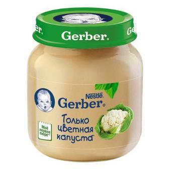 Скидка 20% ▷ Пюре Gerber цветная капуста (с 4 месяцев) 80 г