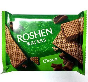 Вафлі Wafers Молоко та шоколад Рошен 72г
