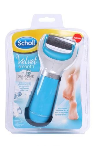 Электрическая роликовая пилка Scholl для удаленияя загрубевшей кожи ступней 1шт