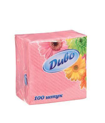 Серветки паперові Диво білі, жовті, рожеві ККПК 100шт
