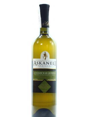 Вино Асканелі Алазанська долина біле напівсолодке 0.75л х3