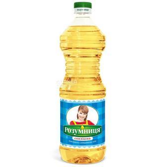 Олія соняшникова рафінована Розумниця 0,87 л