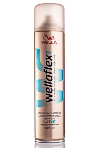 Лак для волос Wellaflex супер сильной фиксации Объем и восстановление 400 мл