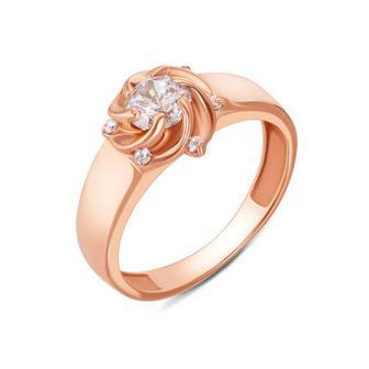 Золотое кольцо с фианитами. Артикул 11818