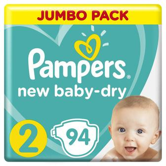 Подгузники Pampers New Baby-Dry 2 Mini (4-8 кг), 94шт
