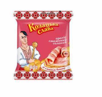 Арахіс солоний, солоний зі смаком бекону Козацька слава 180 г