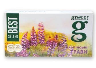 Чай Альпійські трави з зеленим чаєм GRACE, 25