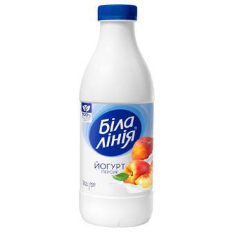 Йогурт Біла Лінія персик 1,5% бут 900г