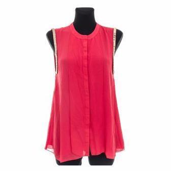 Блуза VILA  кремовая/розовая