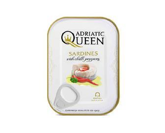 Сардини Adriatic Queen з перцем чилі в олії, 105г