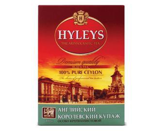 Чай чорний Hyleys «Англійський королівський купаж» крупнолистовий, 100г