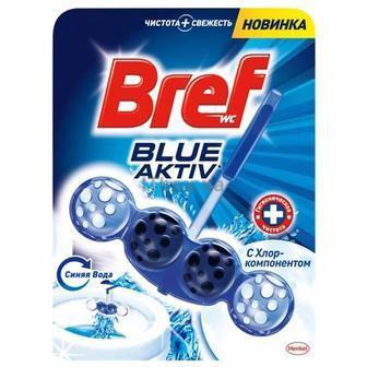 Средство для чистки унитаза голубая вода с хлор-компонентом Bref, 50г