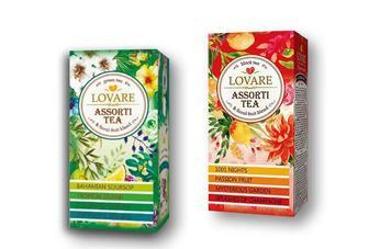 Скидка 25% ▷ Чай чорний/ зелений «Lovare» - 24 ф/п ×2 г