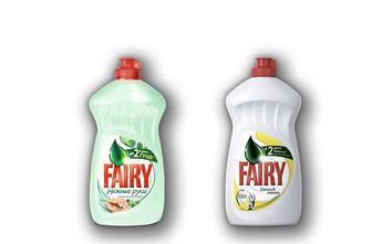 Засіб миючий для посуду Соковитий лимон/Зелене Яблуко/ Ніжні руки Чайне дерево та м'ята, 500 мл  Fairy
