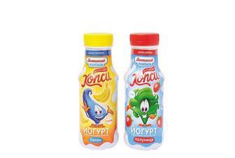 Йогурт для дітей Хопси Банан/Полуниця, 1,5% Яготинське 200 г