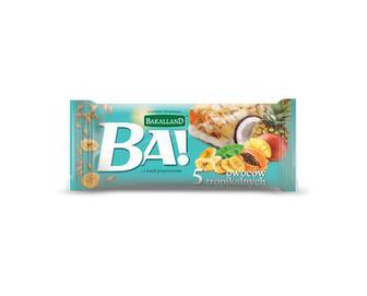 Батончик Bakalland злаковий 5 тропічних фруктів, 40 г