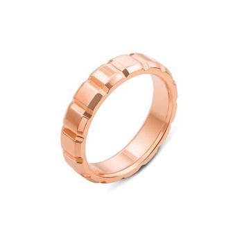 Обручальное кольцо с алмазной гранью. Артикул 10003