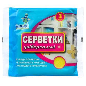 Серветки універсальні  Добра господарочка  3 шт 30х30 см
