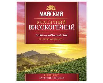 Чай чорний «Майский» «Класичний високогірний» 100×2г